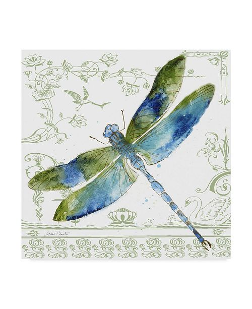 "Trademark Global Jean Plout 'Dragonfly Bliss 8' Canvas Art - 14"" x 14"""
