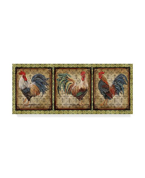 """Trademark Global Jean Plout 'Le Coq Rooster 2' Canvas Art - 24"""" x 10"""""""