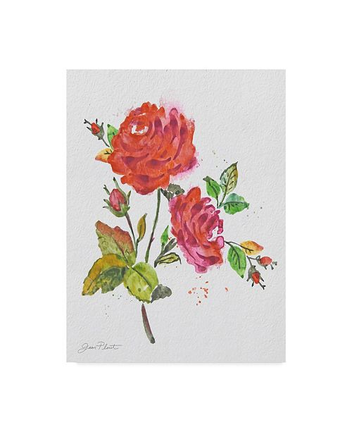 "Trademark Global Jean Plout 'Watercolor Flowers 8' Canvas Art - 24"" x 32"""