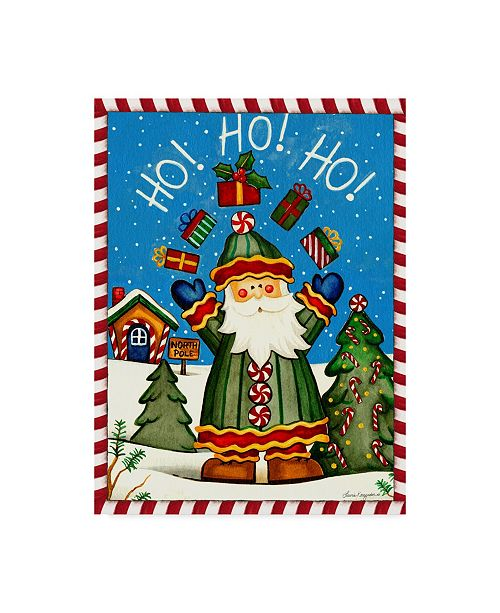"Trademark Global Laurie Korsgaden 'Santa Celebration' Canvas Art - 14"" x 19"""