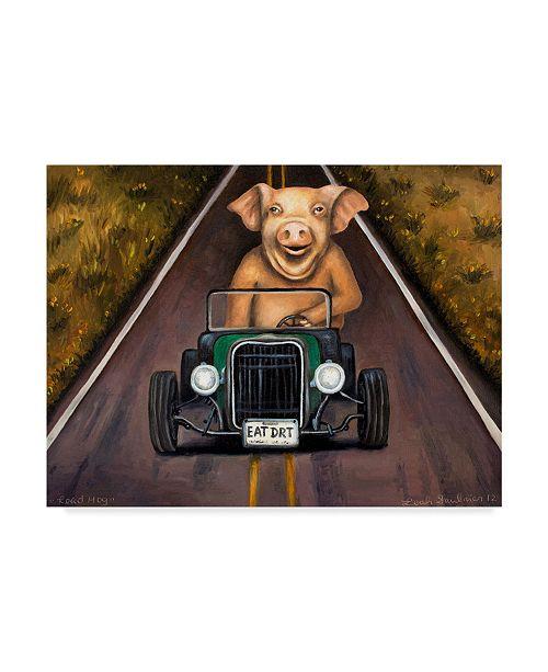 "Trademark Global Leah Saulnier 'Road Hog' Canvas Art - 19"" x 14"""