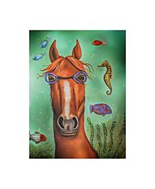 """Leah Saulnier 'Sea Horse Goggles' Canvas Art - 18"""" x 24"""""""