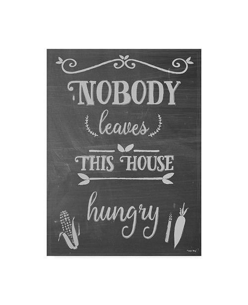 """Trademark Global Leslie Wing 'Nobody Leaves This House Hungry' Canvas Art - 24"""" x 32"""""""