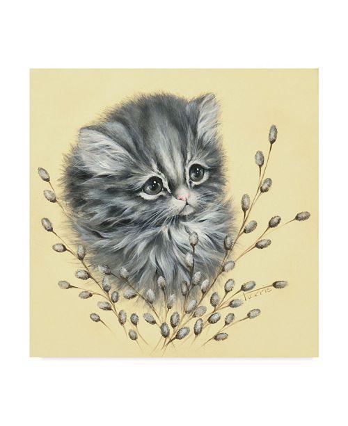 "Trademark Global Peggy Harris 'Precious Kitty' Canvas Art - 18"" x 18"""