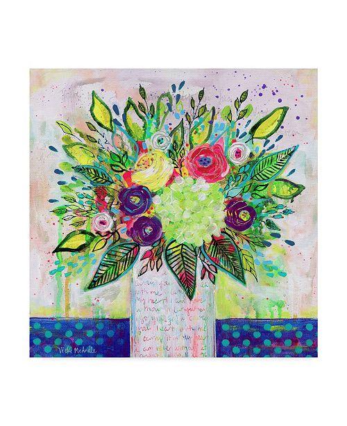 "Trademark Global Vicki Mcardle Art 'Love Letter Vase 2' Canvas Art - 18"" x 18"""