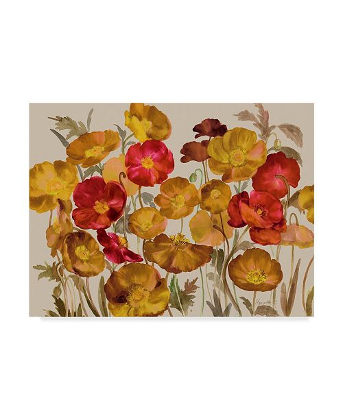 """Trademark Global Marietta Cohen Art And Design 'Yellow And Red Poppies' Canvas Art - 19"""" x 14"""""""