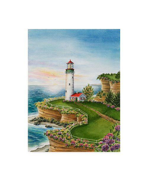 "Trademark Global Mary Irwin 'Lighthouse Sunset' Canvas Art - 18"" x 24"""