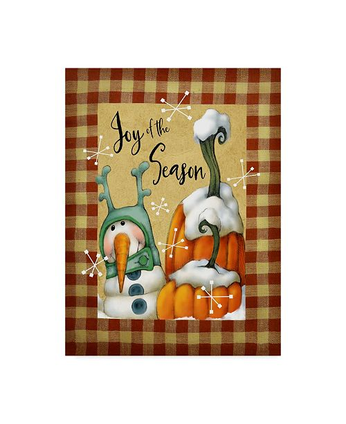"Trademark Global Margaret Wilson 'Snowman Pumpkins' Canvas Art - 24"" x 32"""
