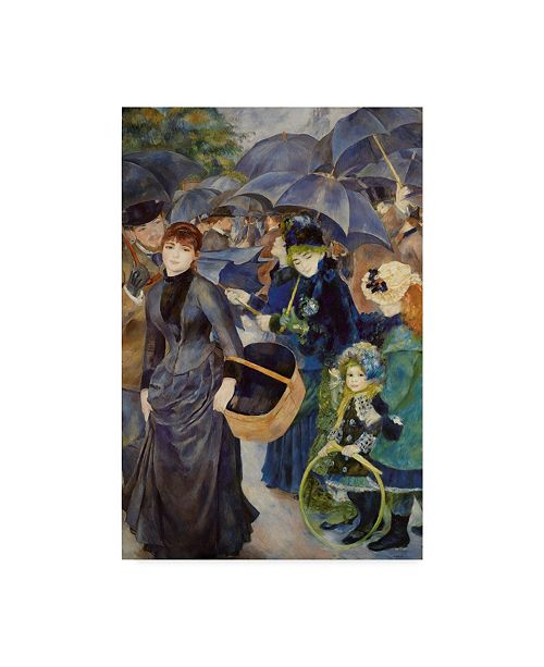 """Trademark Global Masters Collection 'The Umbrellas' Canvas Art - 16"""" x 24"""""""
