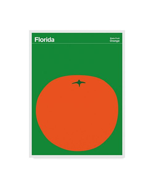 "Trademark Global Print Collection - Artist 'Florida Orange' Canvas Art - 18"" x 24"""