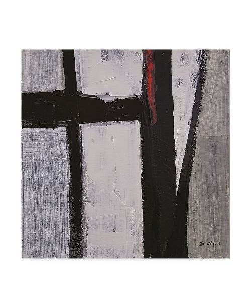 """Trademark Global Masters Fine Art 'Black And White Abstract 180709' Canvas Art - 24"""" x 24"""""""