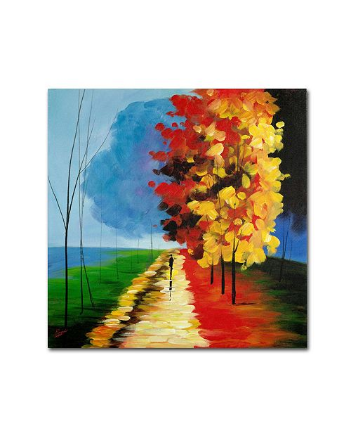 "Trademark Global Ricardo Tapia 'Walk in the Park' Canvas Art - 18"" x 18"""
