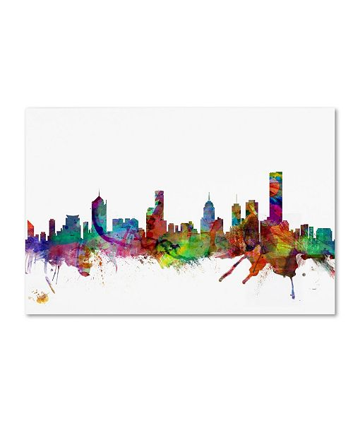 "Trademark Global Michael Tompsett 'Melbourne Skyline II' Canvas Art - 16"" x 24"""
