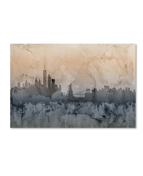 "Trademark Global Michael Tompsett 'New York Skyline VI' Canvas Art - 16"" x 24"""