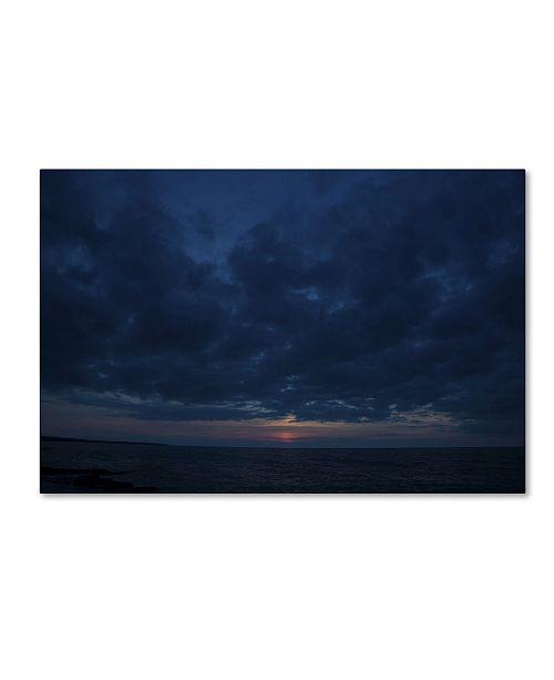 """Trademark Global Kurt Shaffer 'Contemplative Sunset' Canvas Art - 22"""" x 32"""""""
