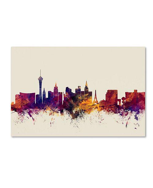 "Trademark Global Michael Tompsett 'Las Vegas Nevada Skyline' Canvas Art - 30"" x 47"""