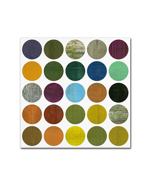 "Trademark Global Michelle Calkins 'Rustic Rounds 5.0' Canvas Art - 35"" x 35"""