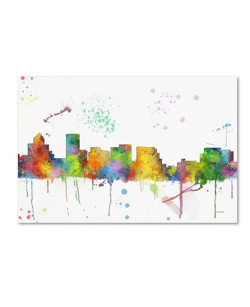 "Trademark Global Marlene Watson 'Salem Oregon Skyline Mclr-1' Canvas Art - 30"" x 47"""