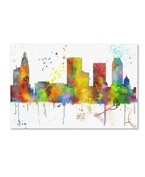 "Trademark Global Marlene Watson 'Tulsa Oklahoma Skyline Mclr-1' Canvas Art - 30"" x 47"""