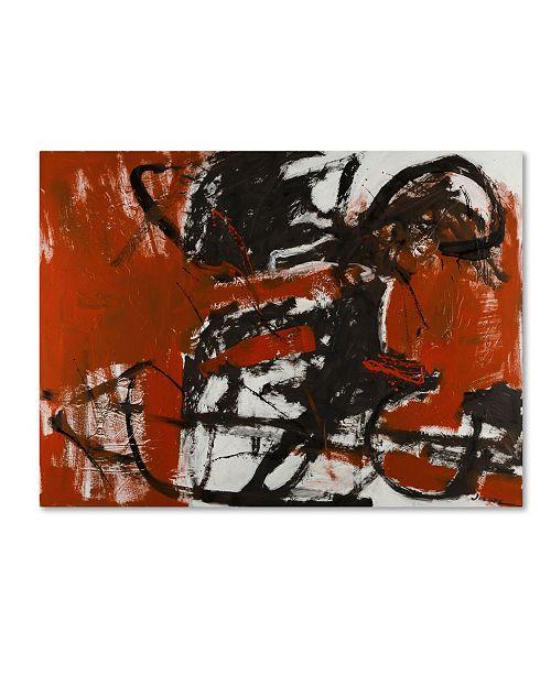 """Trademark Global Joarez 'Black Horse' Canvas Art - 35"""" x 47"""""""