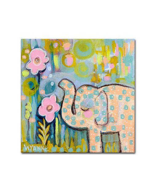 "Trademark Global Wyanne 'Peachy Keen' Canvas Art - 24"" x 24"""