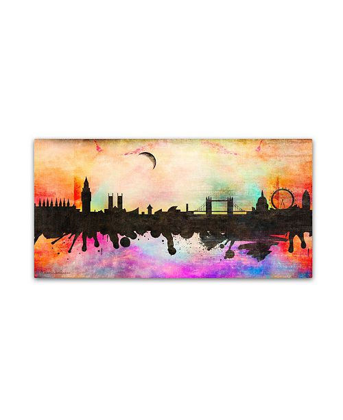"Trademark Global Mark Ashkenazi 'London 1' Canvas Art - 24"" x 47"""