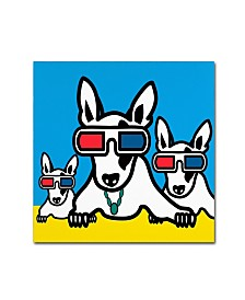 "Mark Ashkenazi 'Dogi' Canvas Art - 35"" x 35"""