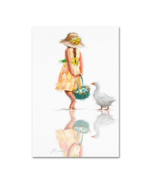 "Trademark Global The Macneil Studio 'Easter Goose' Canvas Art - 22"" x 32"""