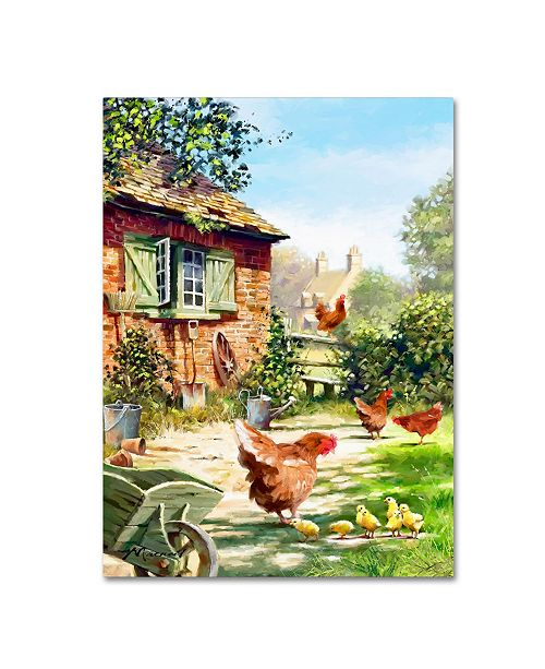 "Trademark Global The Macneil Studio 'Chicken And Hens' Canvas Art - 24"" x 32"""