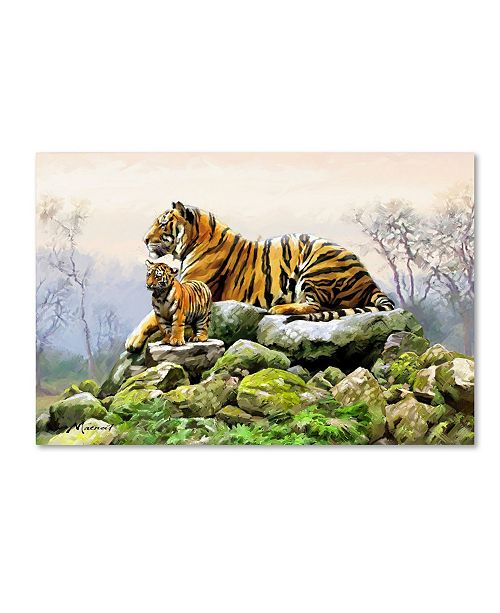 "Trademark Global The Macneil Studio 'Tiger' Canvas Art - 22"" x 32"""