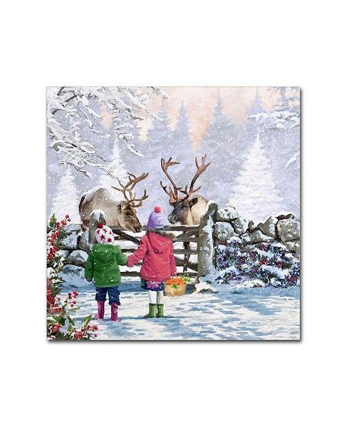 "Trademark Global The Macneil Studio 'Reindeer Pair' Canvas Art - 35"" x 35"""