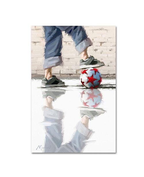 "Trademark Global The Macneil Studio 'Urban Football' Canvas Art - 30"" x 47"""