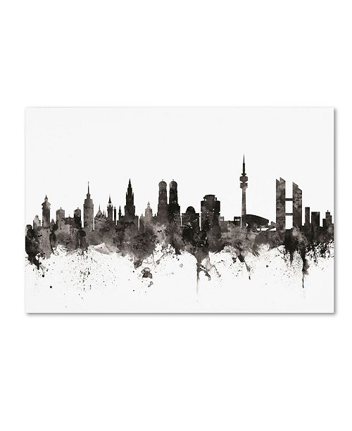"Trademark Global Michael Tompsett 'Munich Germany Skyline III' Canvas Art - 22"" x 32"""