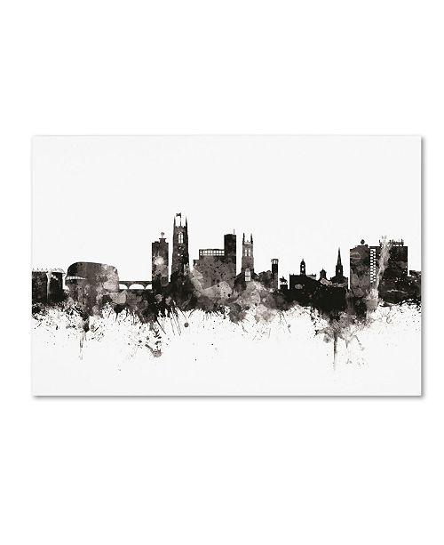 "Trademark Global Michael Tompsett 'Derby England Skyline III' Canvas Art - 22"" x 32"""
