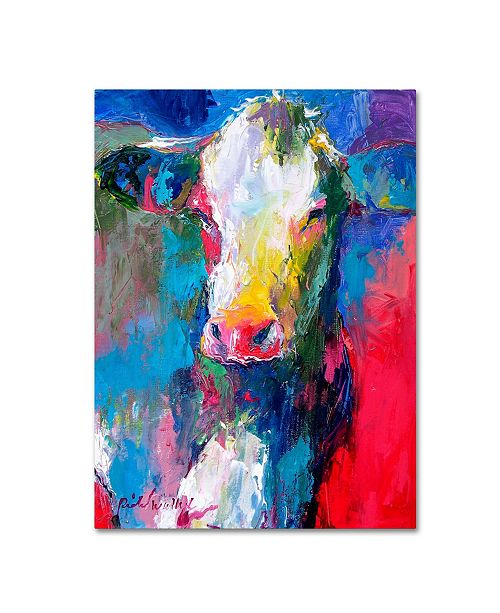 "Trademark Global Richard Wallich 'Art Cow 2' Canvas Art - 35"" x 47"""