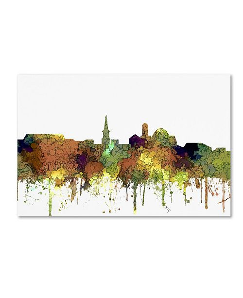 "Trademark Global Marlene Watson 'Alexandria Virginia Skyline SG Safari Buff' Canvas Art - 30"" x 47"""
