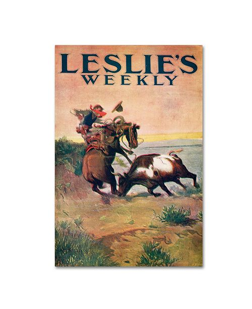 "Trademark Global Vintage Apple Collection 'Leslies Weekly' Canvas Art - 22"" x 32"""