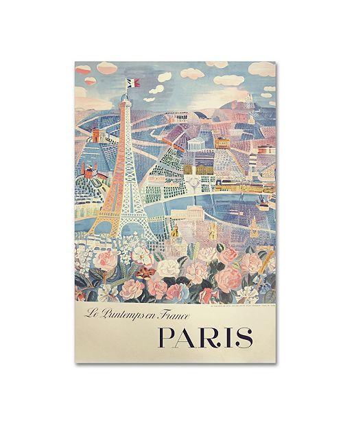 """Trademark Global Vintage Apple Collection 'Printemps Paris' Canvas Art - 22"""" x 32"""""""