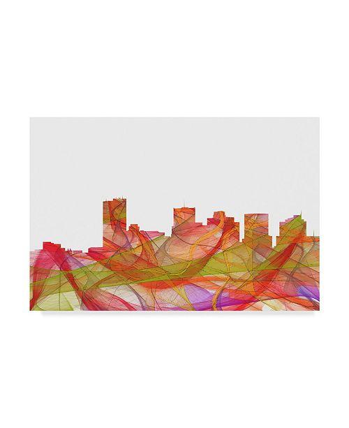 "Trademark Global Marlene Watson 'Phoenix Arizona Skyline Swirl' Canvas Art - 22"" x 32"""