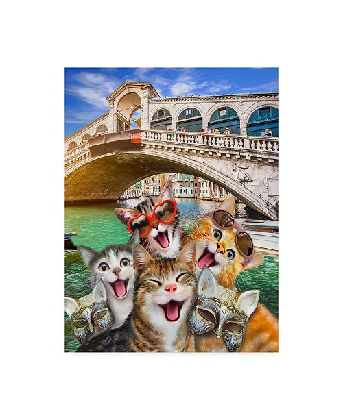 "Trademark Global Howard Robinson 'Kitty Bridge' Canvas Art - 24"" x 32"""