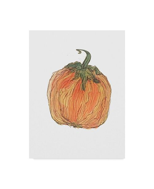"Trademark Global Jessmessin 'Pumpkin' Canvas Art - 24"" x 32"""