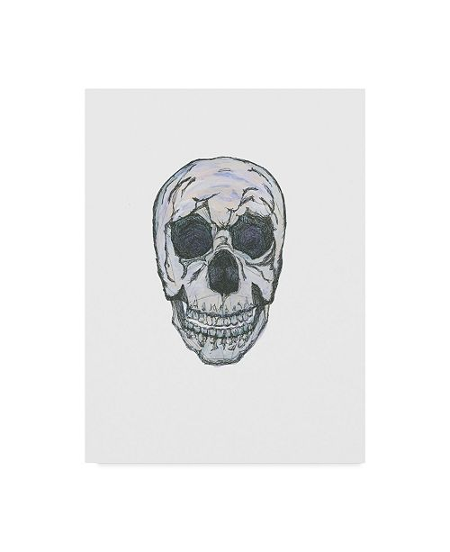 "Trademark Global Jessmessin 'Skull' Canvas Art - 24"" x 32"""