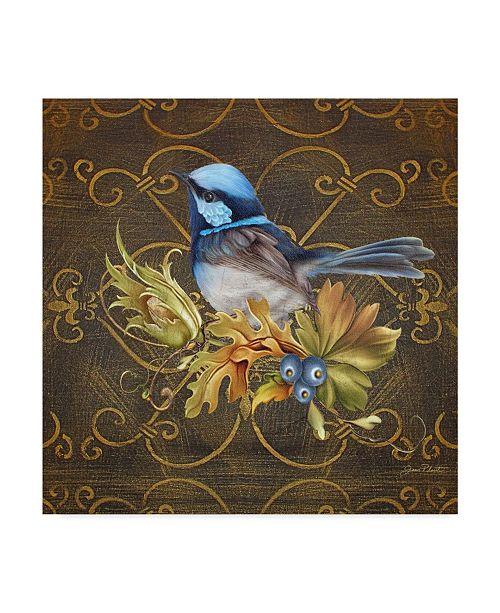 "Trademark Global Jean Plout 'Blue Perch' Canvas Art - 35"" x 35"""