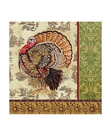 "Jean Plout 'Tom Turkey' Canvas Art - 35"" x 35"""