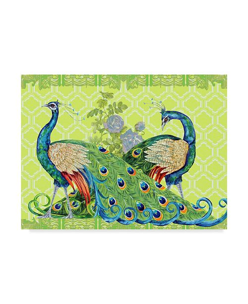 "Trademark Global Jean Plout 'Peacock Parade Green' Canvas Art - 35"" x 47"""