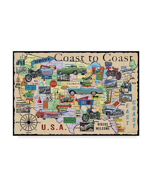 "Trademark Global Jean Plout 'Classic America Beige' Canvas Art - 30"" x 47"""