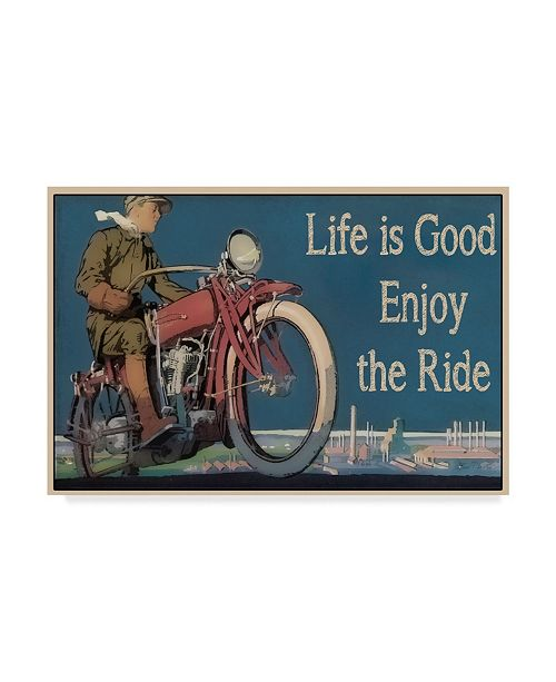 """Trademark Global Jean Plout 'Life Is Good' Canvas Art - 22"""" x 32"""""""