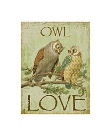 "Jean Plout 'Owl Love' Canvas Art - 35"" x 47"""