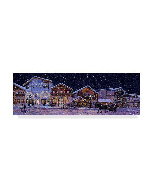 "Trademark Global Jeff Tift 'Hometown Holiday' Canvas Art - 8"" x 24"""