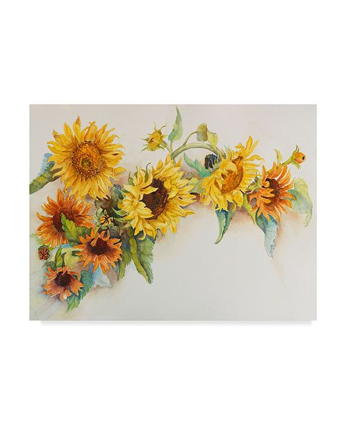 "Trademark Global Joanne Porter 'Arch Of Sunflowers' Canvas Art - 24"" x 32"""